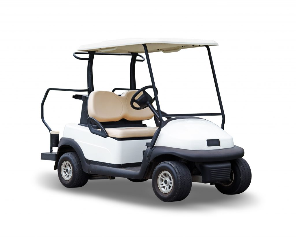white-golf-cart