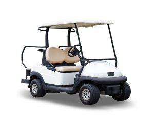 white-golf-cart